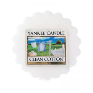 Tart Yankee Candle con aroma a clean cotton