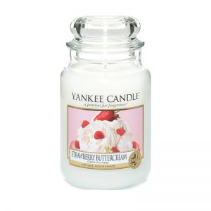 Vela Yankee Candle en jarra grande strawberry buttercream.