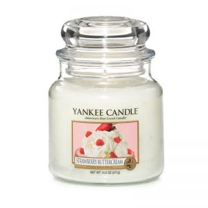 Vela Yankee Candle en jarra mediana aroma Strawberry Buttercream
