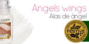 Velas aromáticas Yankee Candle con aroma a Angels Wings