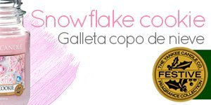 Vela Yankee Candle con aroma a Snowflake Cookie