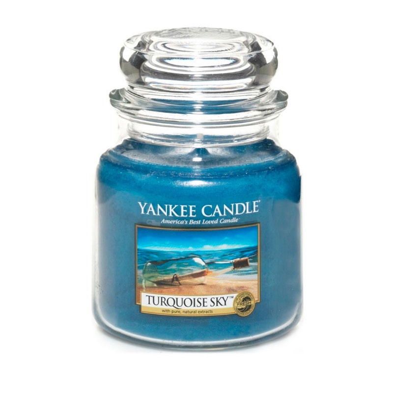 Yankee Candle en jarra Mediana con aroma Turquoise Sky