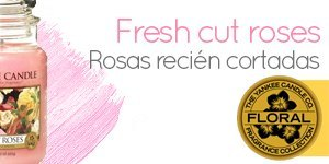 Velas Yankee Candle con aroma a Fresh Cut Roses