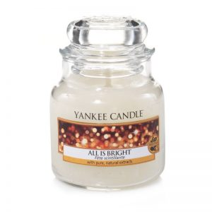 Vela Yankee Candle en jarra pequeña con aroma All is Bright