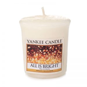 Vela Yankee Candle votiva con aroma All is Bright