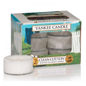 Tealights Yankee Candle con aroma Clean Cotton
