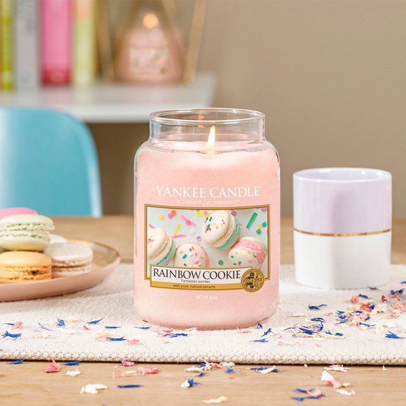 Velas Yankee Candle con aroma a Rainbow Cookie