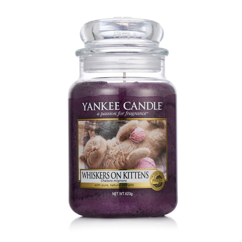 Yankee Candle en jarra grande con aroma Whiskers on Kittens