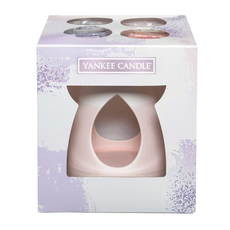 Set de 4 tarts colección Enjoy the Simply Things + Quemador color rosa pastel