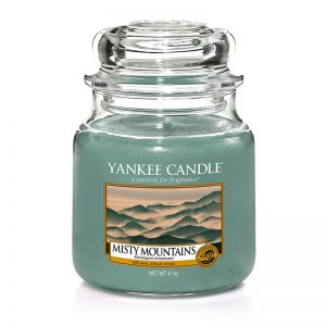 Yankee Candle en jarra Mediana con aroma a Misty Mountains