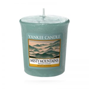 Vela Yankee Candle votiva con aroma a Misty Mountains