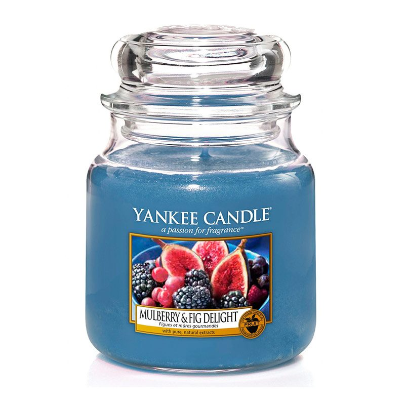 Yankee Candle en jarra Mediana con aroma Mulberry & Fig Delight