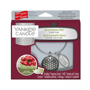 Ambientador de coche Charming Geometric Start Kit. Aroma Black Cherry