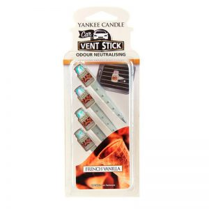 Ambientador de coche Vent Stick. Aroma French Vanilla. 4 Sticks.